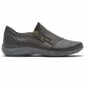 Cobb Hill AMALIE ZIPPER SLIPON BLACK