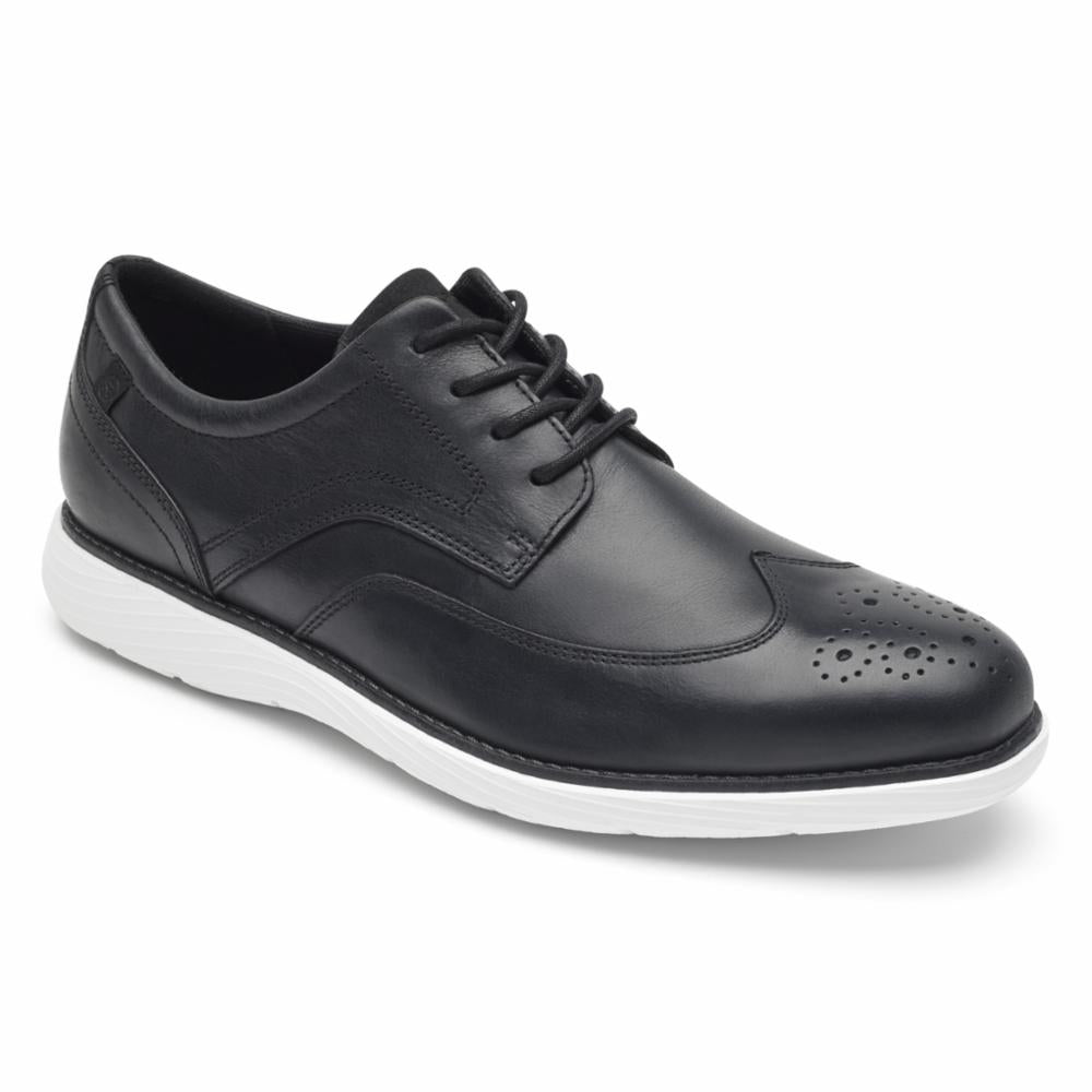 Rockport Men  WINGTIP BLACK/WHITE OS