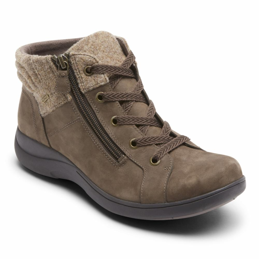 Aravon REV STRIDARC WATERPROOF LOW BOOT BROWN/NUBUCK