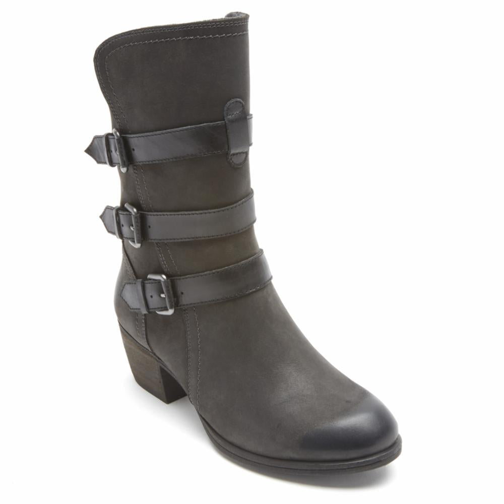 Cobb Hill ANISA 3 BUCKLE BOOT BLACK