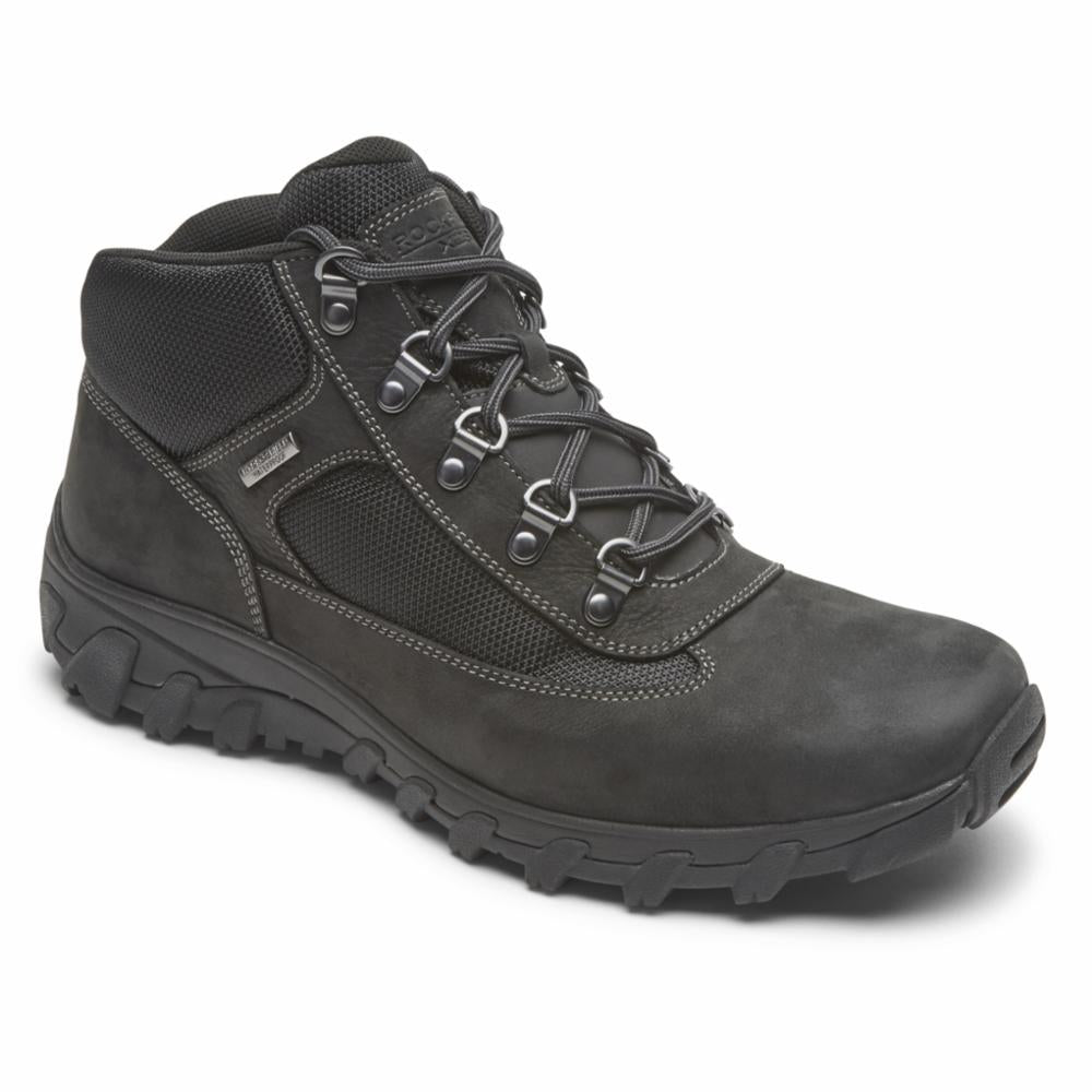 Rockport Men COLD SPRINGS PLUS CHUKKA BLACK/NUBUCK