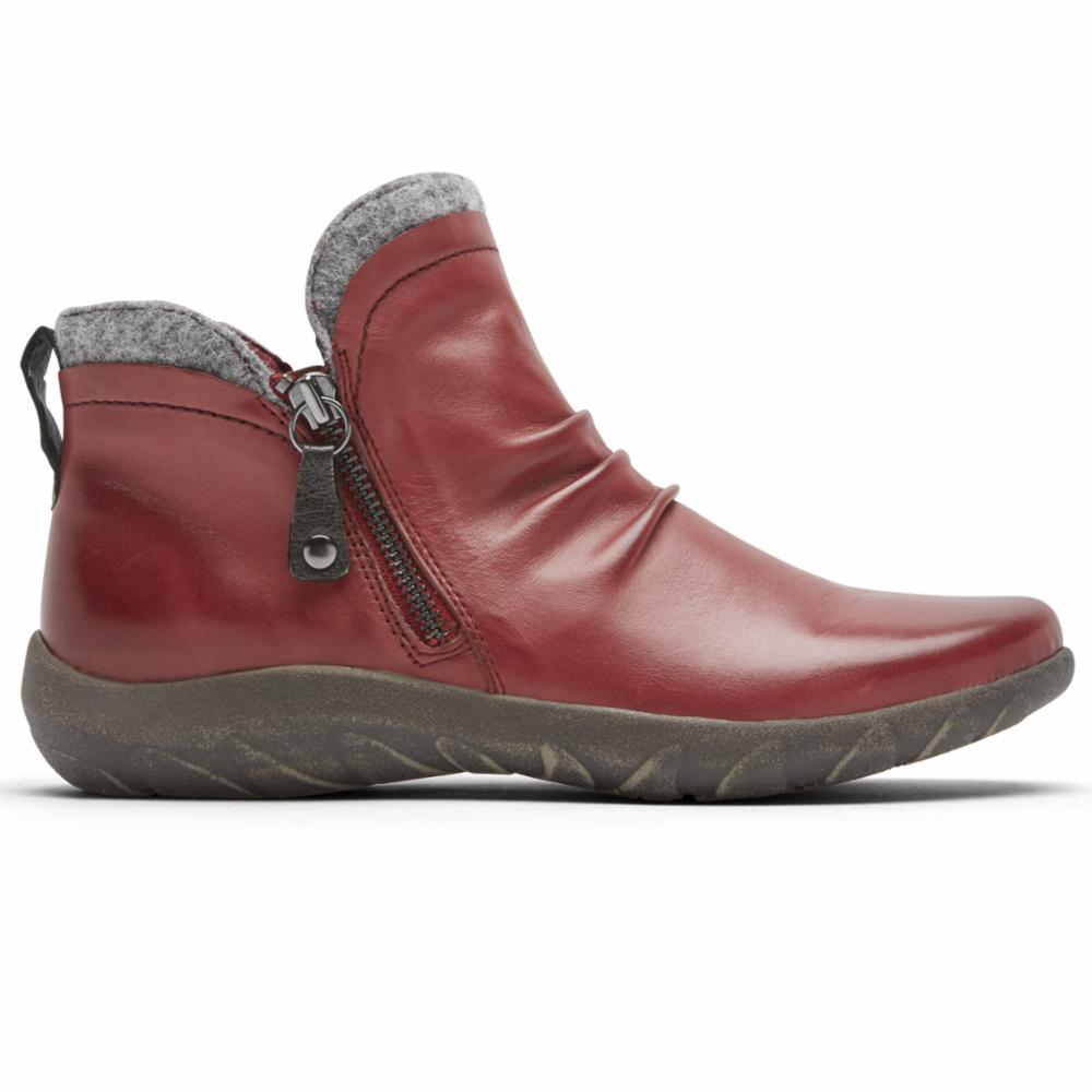 Cobb Hill AMALIE SIDE ZIP BT RED