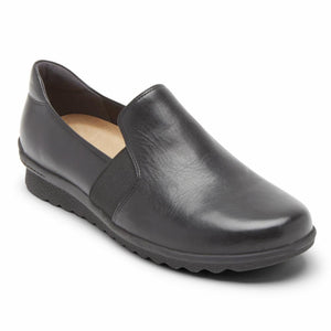 Aravon JOSIE SLIPON BLACK/LEATHER