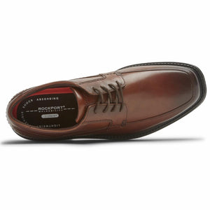 Rockport Men SHERWOOD APRON TOE COGNAC ANTIQUE