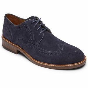 Rockport Men KENTON WINGTIP NAVY SDE