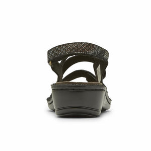 Aravon CAMBRIDGE 3 STRAP BLACK SNAKE MULTI
