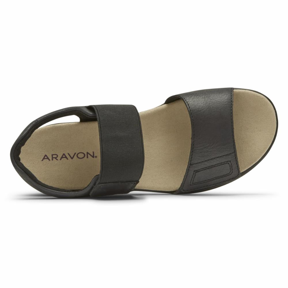 Aravon BEAUMONT TWO STRAP BLACK