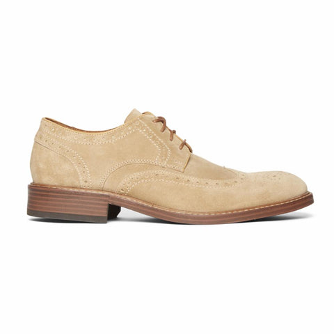 Rockport Men KENTON WINGTIP TAN SDE
