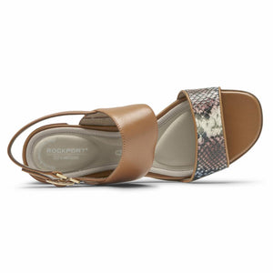 Rockport Women TOTAL MOTION ALAINA TWO STRAP MULTI SNAKE
