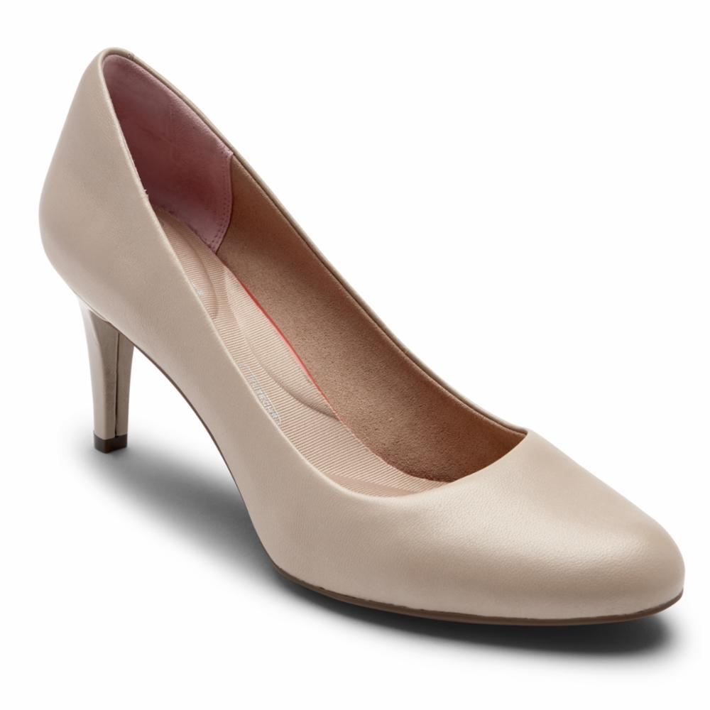 Rockport Women TOTAL MOTION ARABELLA PUMP NEUTRAL BEIGE LTHR