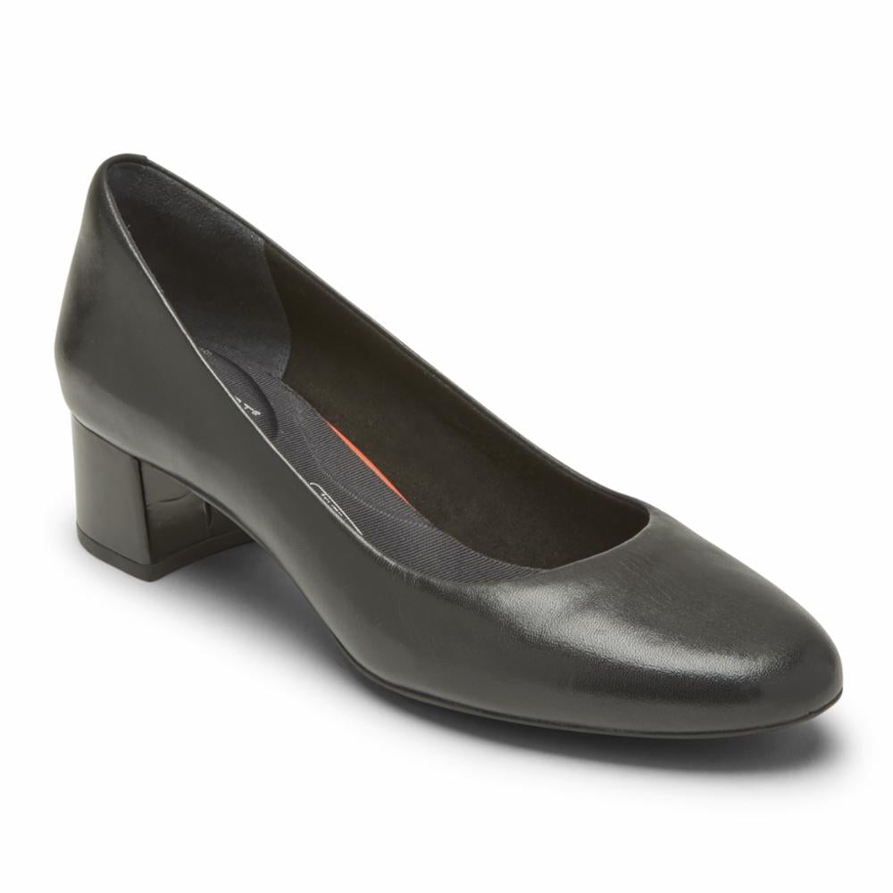Rockport Women TOTAL MOTION SYDNEY PUMP BLACK LTHR