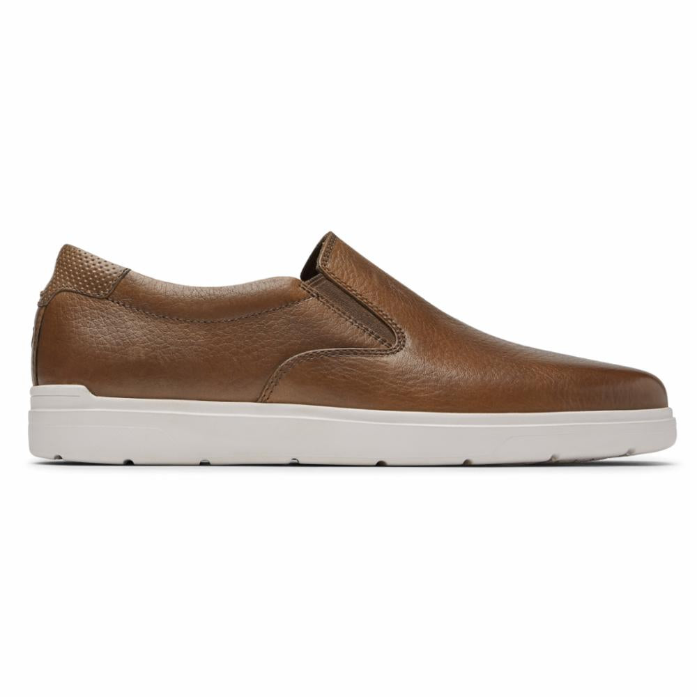 Rockport Men TOTAL MOTION LITE SLIPON COGNAC TOLEDO