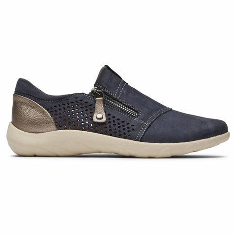 Cobb Hill AMALIE ZIPPER SLIPON DENIM PERF