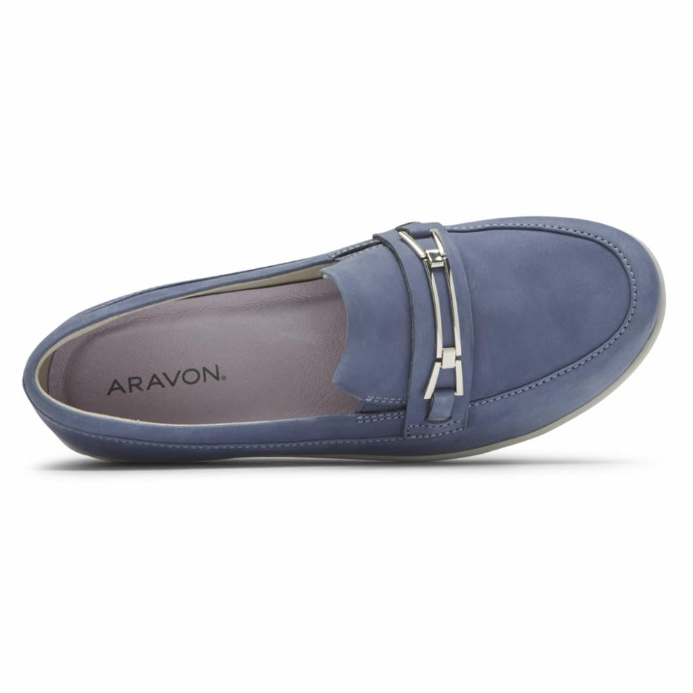 Aravon JOSIE BIT LOAFER BLUE