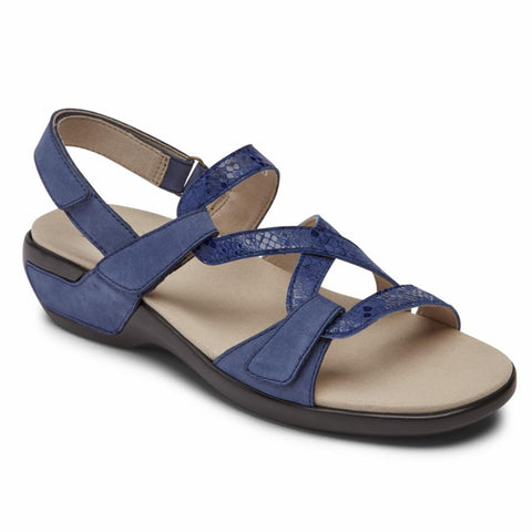 Aravon POWER COMFORT SANDALS STRAP SANDAL BLUE MULTI