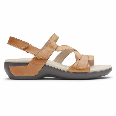 Aravon POWER COMFORT SANDALS STRAP SANDAL TAN MULTI