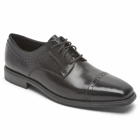 Rockport Men FINNLEY CAP TOE BLACK/GLASS