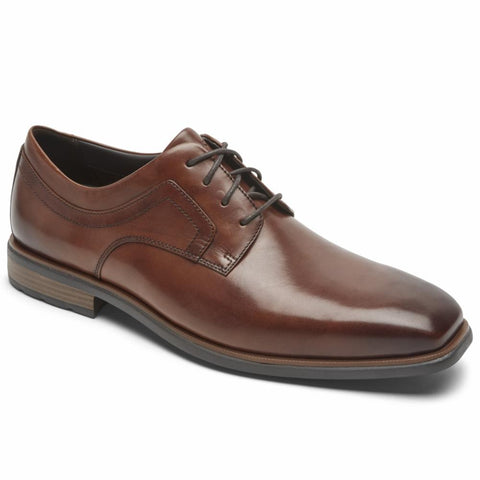 Rockport Men FINNLEY PLAIN TOE COGNAC/ANTIQUE