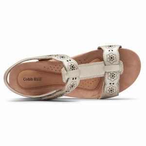 Cobb Hill HOLLYWOOD TSTRAP DOVE METALLIC