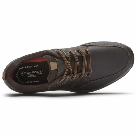 Rockport Men XCS SPRUCE PEAK SPRUCE PEAK LACE UP DK CHOCOLATE LEATHER