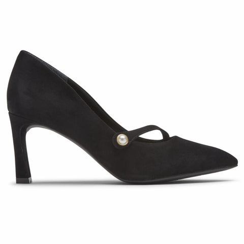 Rockport Women TOTAL MOTION SHEEHAN ASYM MJ BLACK KID SUEDE