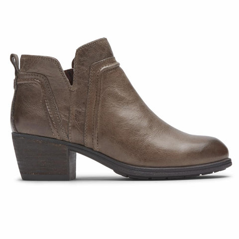 Cobb Hill ANISA VCUT BOOTIE STONE LEATHER