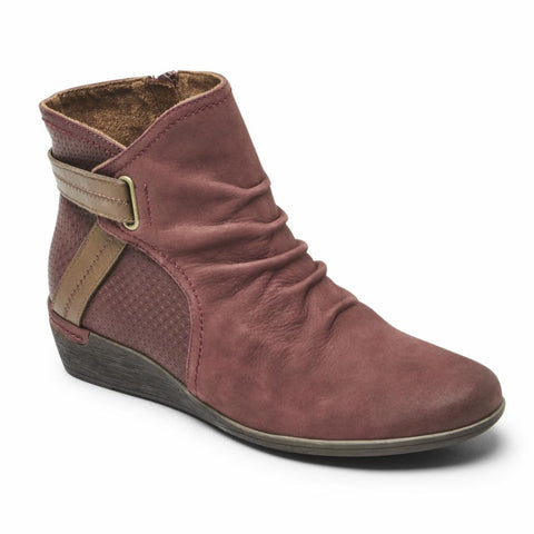Cobb Hill DEVYN ROUCHED RED NUBUCK