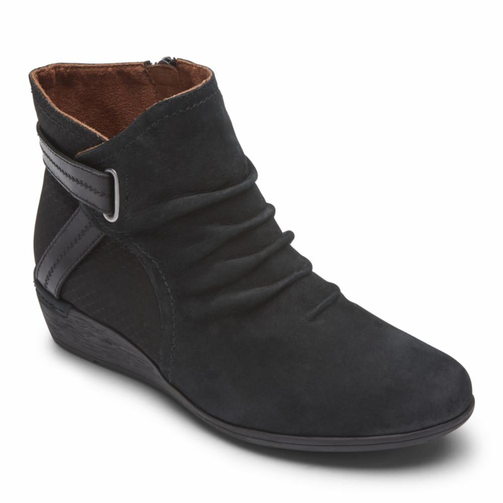 Cobb Hill DEVYN ROUCHED BLACK NUBUCK
