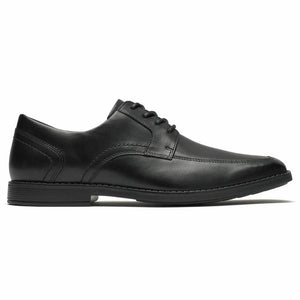 Rockport Men WIGHTON APRON LACE UP BLACK/LEATHER