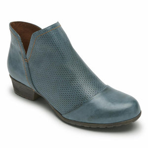 Cobb Hill GRATASHA V-CUT BOOT TEAL LEATHER