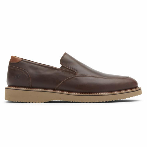 Dunham CLYDE SLIP ON SADDLE BROWN LEA