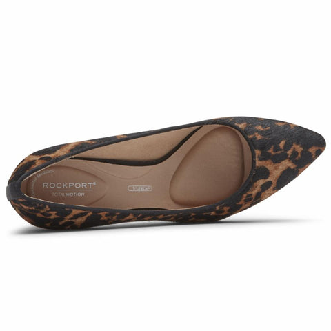 Rockport Women TOTAL MOTION 75mmPTH PLAIN PUMP LEOPARD HAIR ON