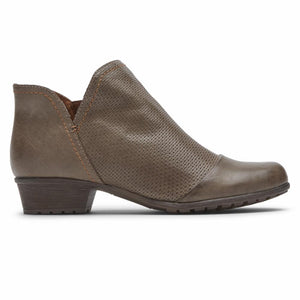 Cobb Hill GRATASHA V-CUT BOOT TAUPE LEATHER