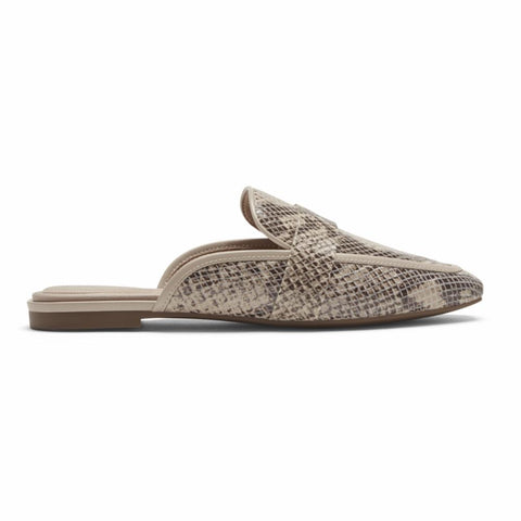 Rockport Women TOTAL MOTION LAYLANI SLIDE TAUPE SNAKE