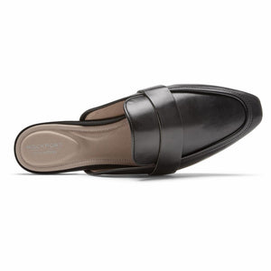 Rockport Women TOTAL MOTION LAYLANI SLIDE BLACK ALLOVER