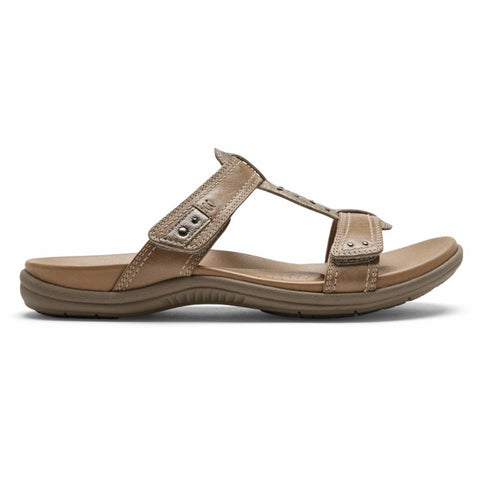 Cobb Hill RUBEY SLIDE TAUPE MULTI LTHR