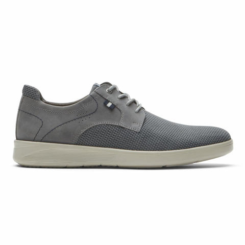Rockport Men CALDWELL PLAINTOE OX GREY/MESH LEATHER