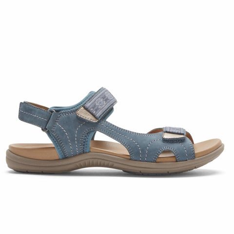 Cobb Hill RUBEY ADJUSTABLE STRAP MOROCCAN BLUE NUBUCK