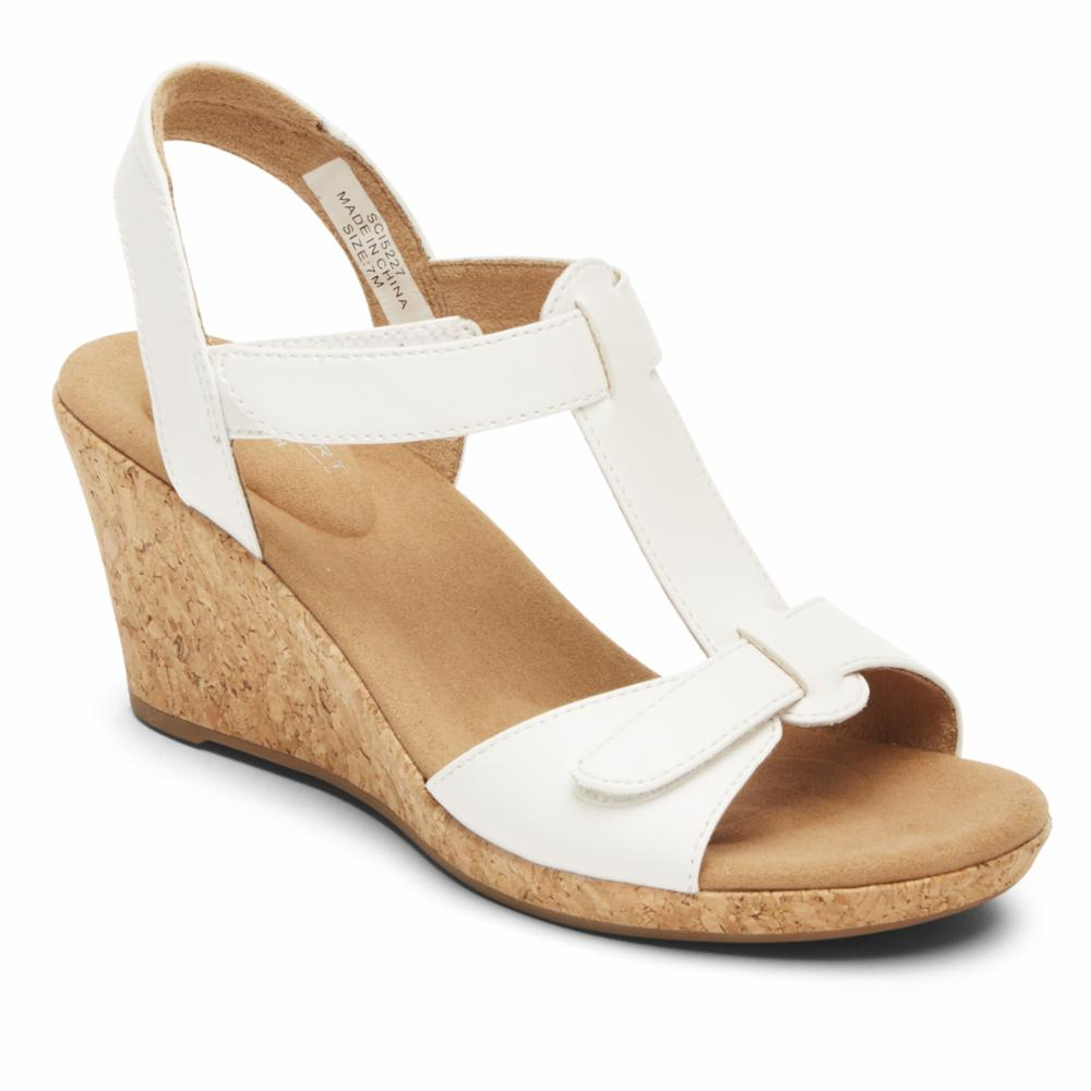 Rockport Women BRIAH T STRAP WHITE