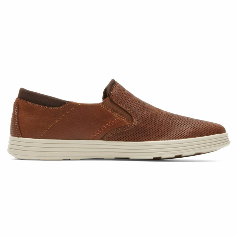 Dunham COLCHESTER SLIP ON BROWN
