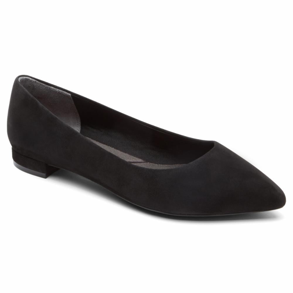 Rockport Women TOTAL MOTION ADELYN BALLET BLACK/KID SUEDE 2