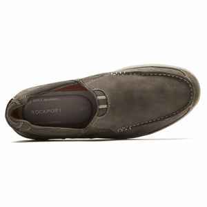 Rockport Men LANGDON SLIP ON GREEN/LEATHER