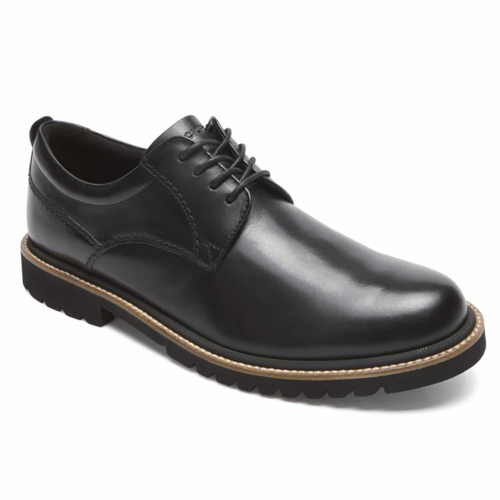 Rockport Men MARSHALL PT OXFORD BLACK/LEATHER