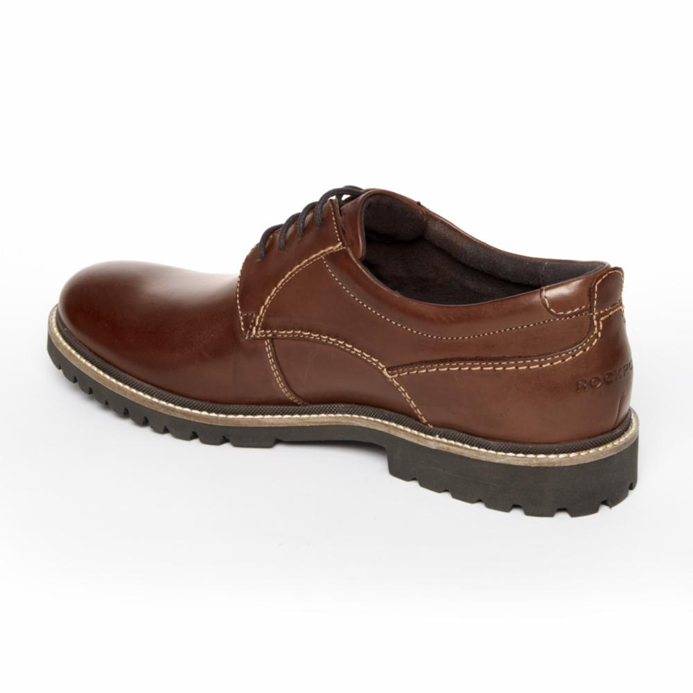 Rockport Men MARSHALL PT OXFORD DARK BROWN/LEATHER