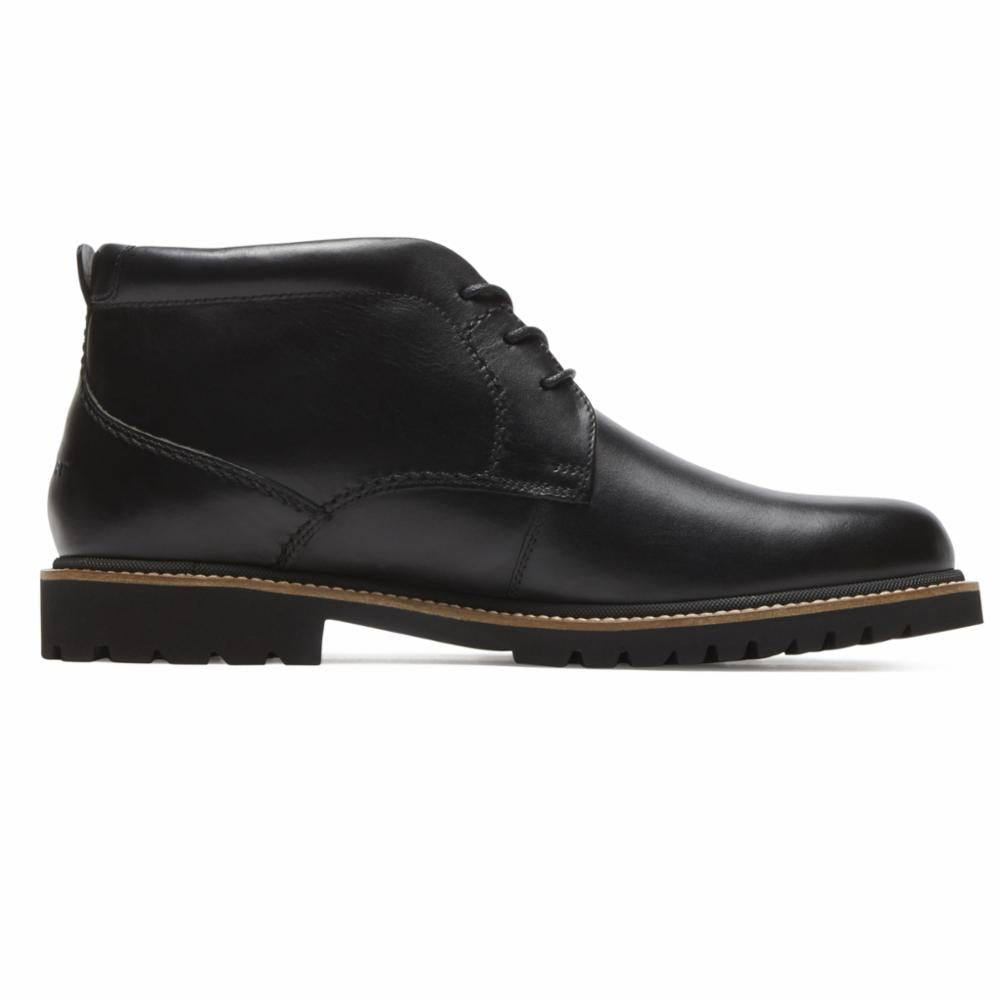 Rockport Men MARSHALL CHUKKA BLACK/LEATHER