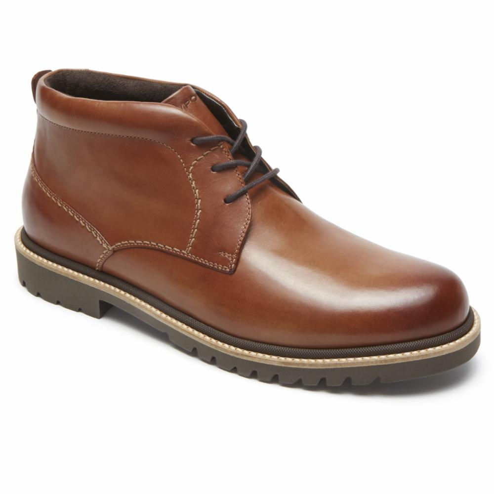 Rockport Men MARSHALL CHUKKA COGNAC/LEATHER