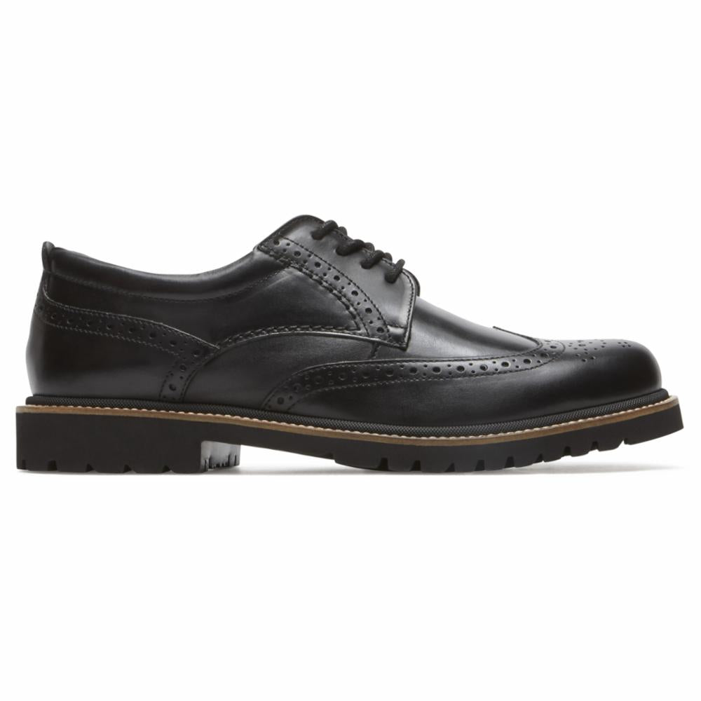 Rockport Men MARSHALL WING TIP BLACK/LEATHER