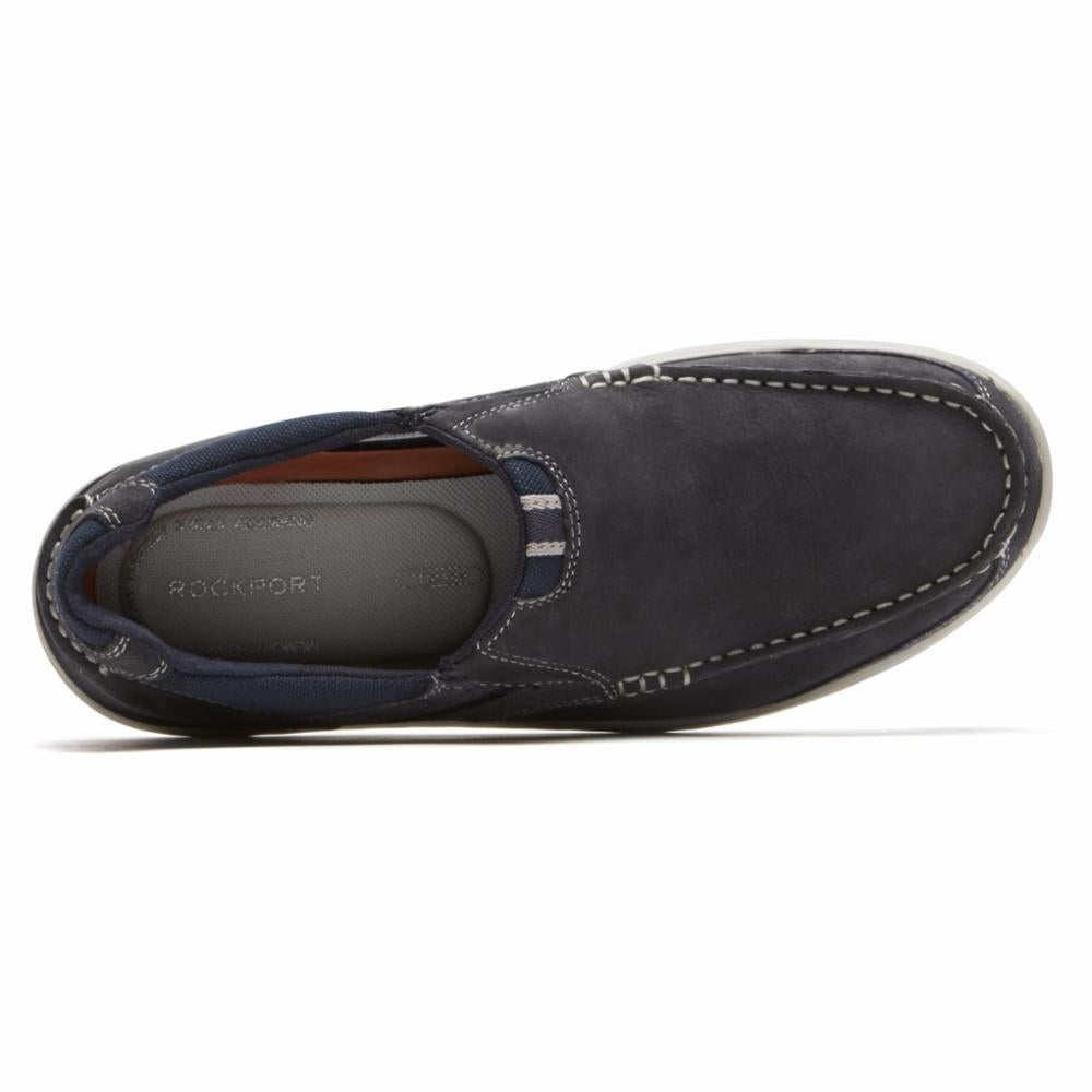 Rockport Men LANGDON SLIP ON STEEL BLUE