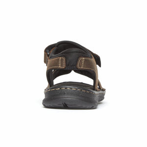 Rockport Men DARWYN QTR STRAP BROWN II/LEATHER