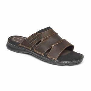 Rockport Men DARWYN SLIDE BROWN II/LEATHER
